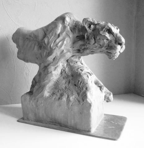 """Lioness, On The Prowl"" Bronze Sculpture by Edward Waites. This sculpture has been produced as a limited edition of just 8, each individually signed and numbered. ""Lioness, on the prowl"" has been cast in bronze using the lost wax process."