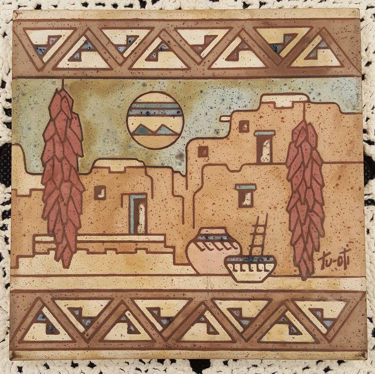 Tu-oti Southwestern Tile by WillowLaneGallery on Etsy