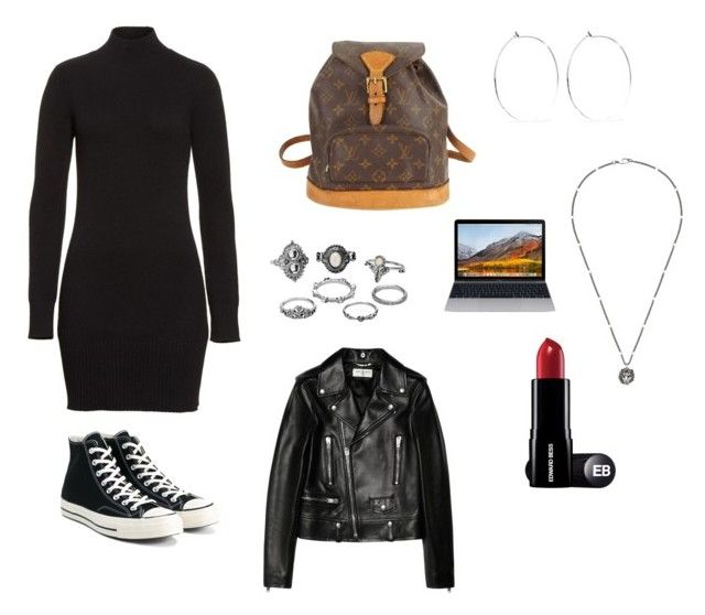 """""""Untitled #28"""" by sofiabaaima ❤ liked on Polyvore featuring Frame, Converse, Yves Saint Laurent, Louis Vuitton, Catbird, Gucci and Charlotte Russe"""