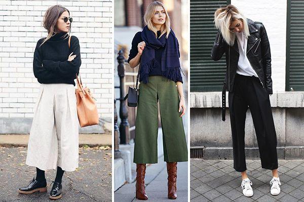 Cómo combinar un culotte en invierno: Invierno