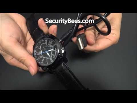Motion detection, IR Night vision spy watch with camera