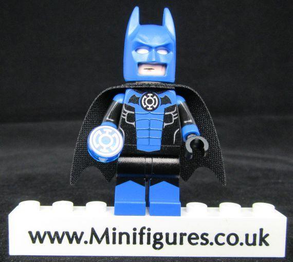 Batman Blue Lantern Leyilebrick Custom Minifigure Lego