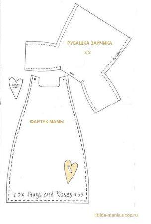 Attic doll Bunny: Pattern for sewing and selection of images 4 of 5