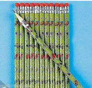 BUG / INSECT PARTY ~ Wooden Bug Pencils with Eraser - Pack of 12