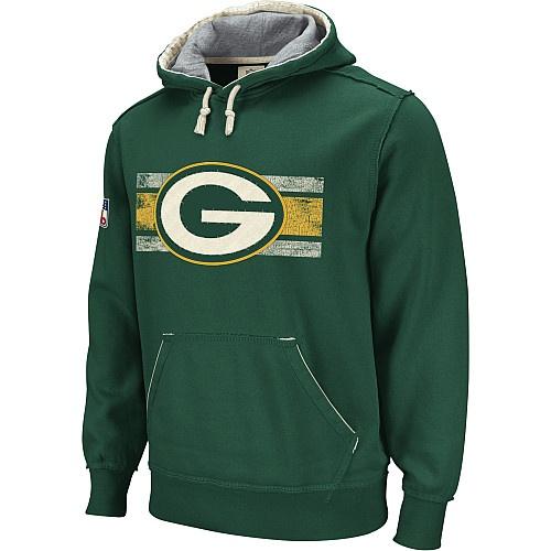 Reebok Green Bay Packers Vintage Applique Hooded Sweatshirt