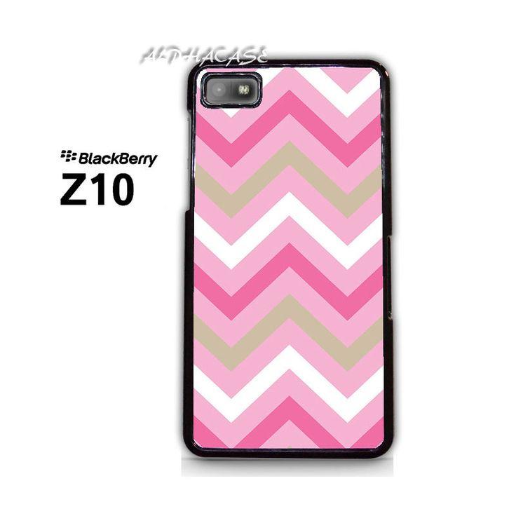 Chevron Pink Sand BB BlackBerry Z10 Z 10 Case