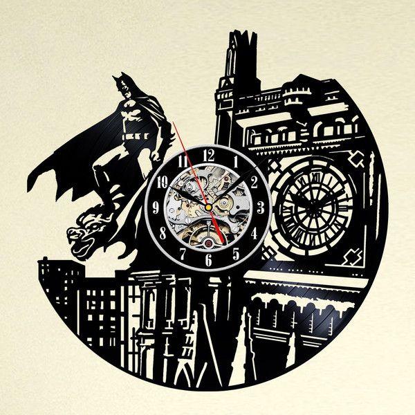 Uhren - Batman Kunst Vinyl-Schallplatte Wanduhr Held - ein Designerstück von MaxRecords bei DaWanda