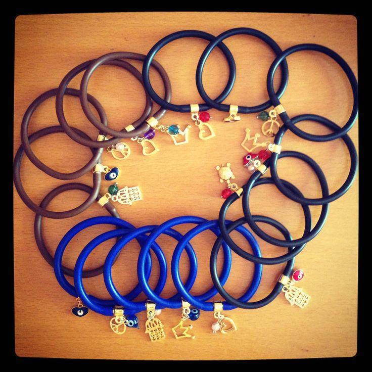 Rubber bracelets !  I Adore them !