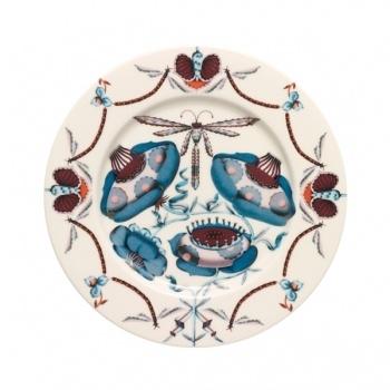 Korento plate 22 cm, blue  Manufacturer: Iittala  Design: Klaus Haapaniemi, Heikki Orvola