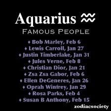 List of Famous Aquarians