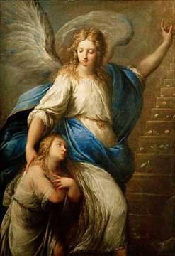 Guardian Angel Pendant Carlo Francesco por Elysiumpendants en Etsy