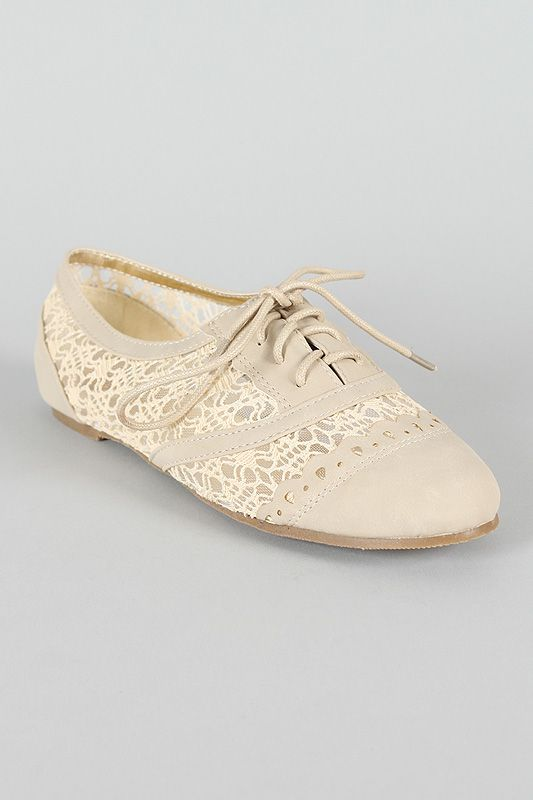 Misbehave Messina19 Lace Oxford Flat