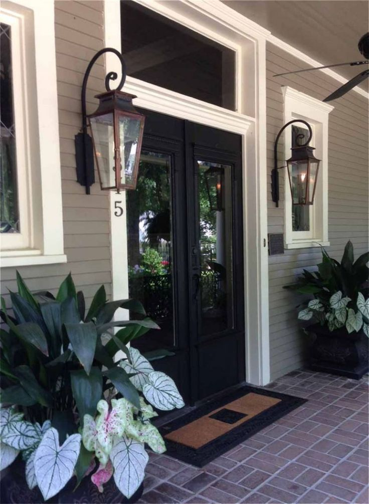 Superior Front Door Lighting Ideas Part - 8: Italianate Gas Lights For Front Porch.
