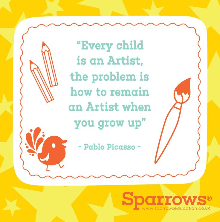 """""""Every child is an artist. The problem is how to remain an artist once we grow up"""" ~ Pablo Picasso #art #picasso #children #parents #growing #artist #creativity #education #sparrows #wisdom #teaching #learning #learningisfun #artisfun    www.sparrowseducation.co.uk/about"""