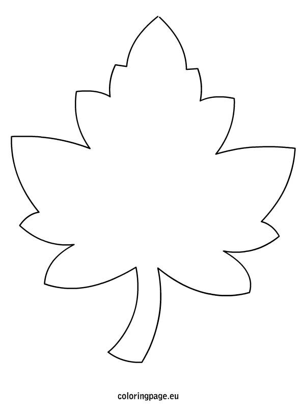 Maple Leaf Template. L...