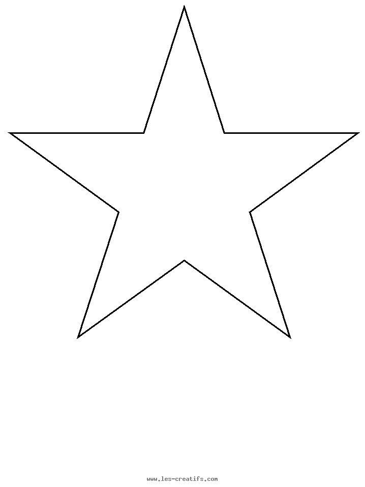 modele pochoir étoile à imprmer