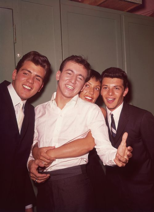 Fabian, Bobby Darin, Keely Smith, and Frankie Avalon