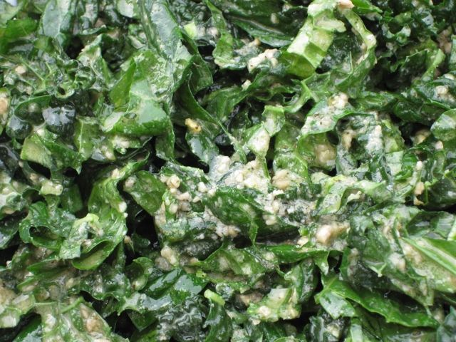 I Can't Stop Eating This Kale Salad Recipe Salads with lacinato kale, garlic, apple cider vinegar, dried thyme, sunflower seeds, extra-virgin olive oil, sea salt
