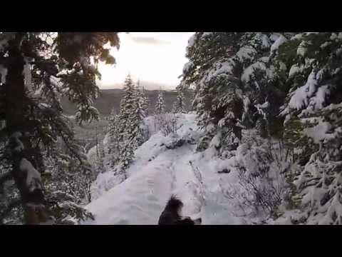 TR Point in Snow - Tumbler Ridge, BC - DJI Phantom 2 Vision Plus