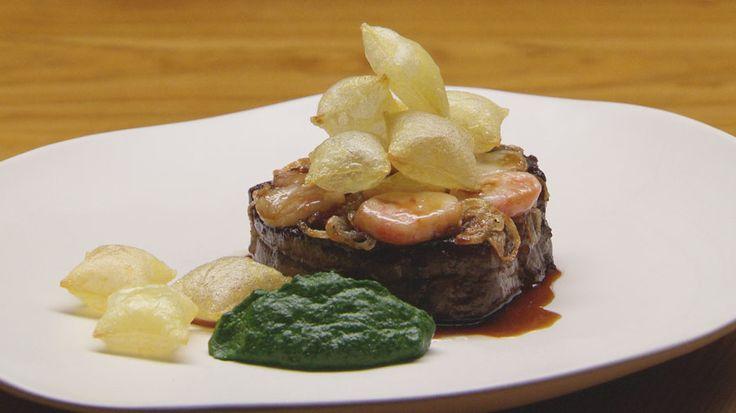 Filet De Bouef Et Pommes Souffle Au Jus Gras | Official MasterChef Australia Recipe