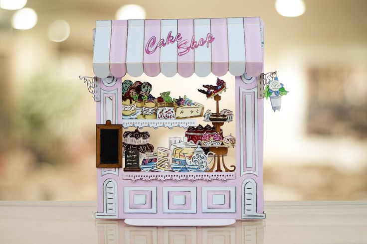 Yum! Papercraft cake shop made using the @tatteredlaceuk Retail Therapy Die Collection! / cardmaking / papercraft / scrapbooking / craft