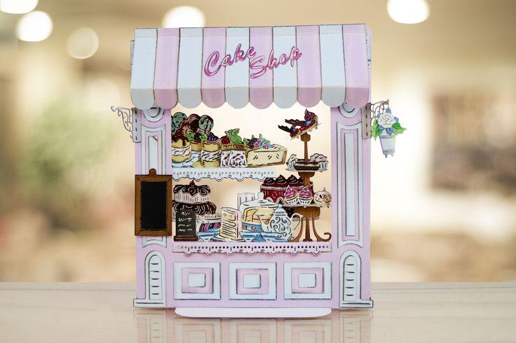 Yum! Papercraft cake shop made using the @tatteredlaceuk Retail Therapy Die Collection! / cardmaking / papercraft / scrapbooking / craft