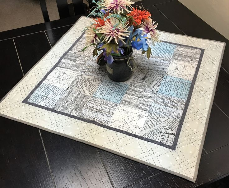 IT'S HERE! 40% OFF...2016 CLEARANCE!  Industrial Chic Table Topper by LittleWheelerQuilts on Etsy