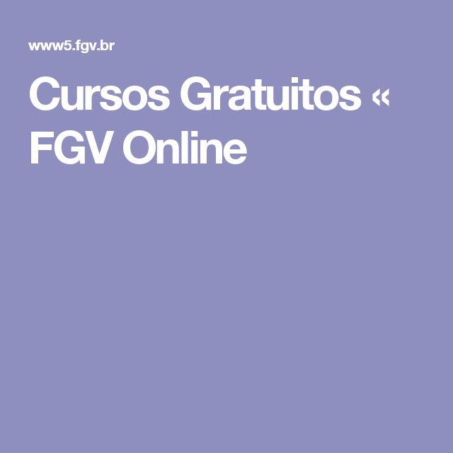 Cursos Gratuitos « FGV Online