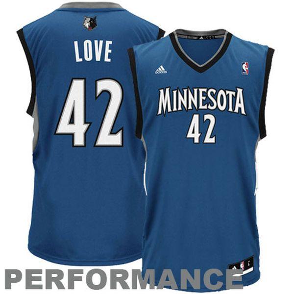 Kevin Love Minnesota Timberwolves adidas Replica Road Jersey - Slate Blue - $34.99