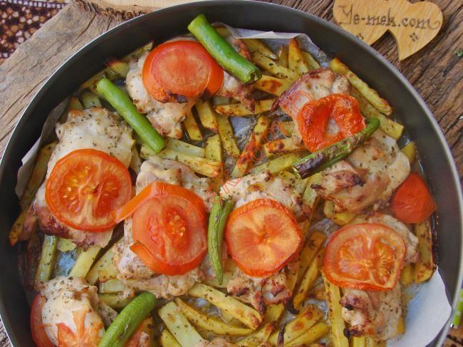 Fırında Patatesli Tavuk İncik Resimli Tarifi - Yemek Tarifleri