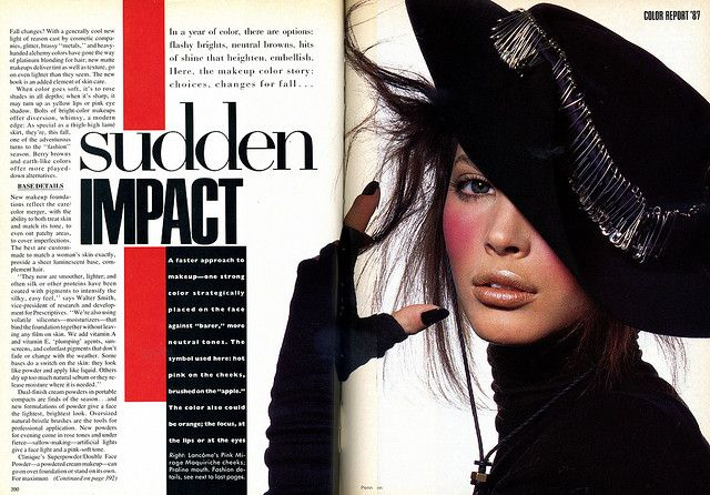 vintage vogue double page spread bold typography which