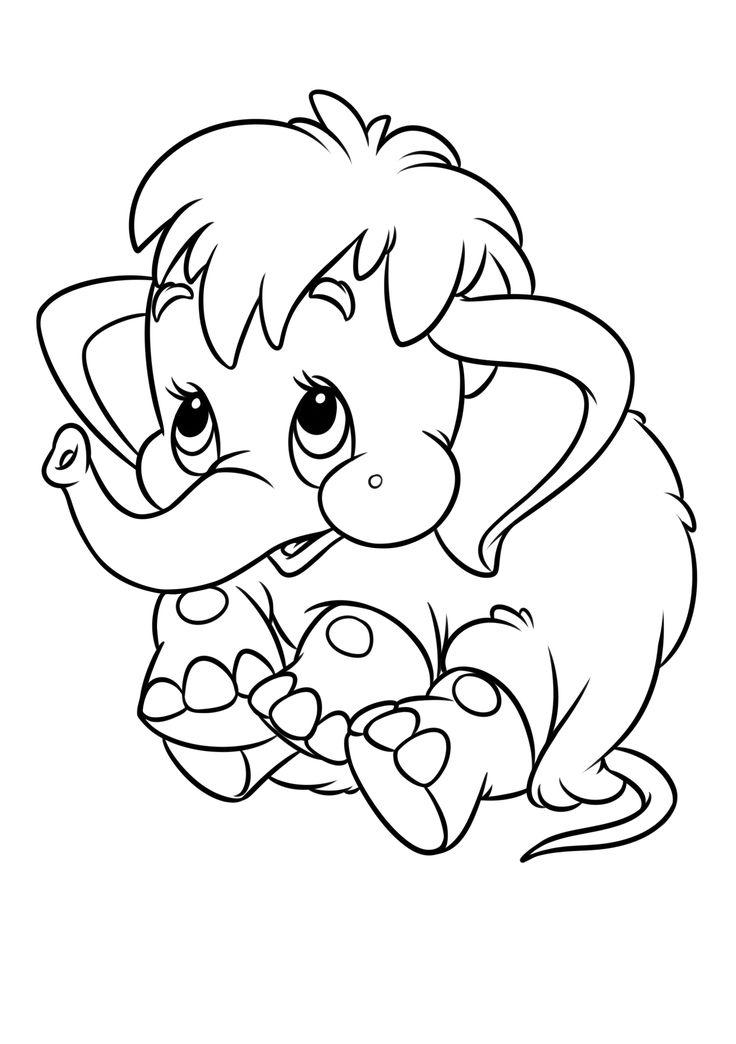 Раскраска советский мультфильм - Мама для мамонтенка ...