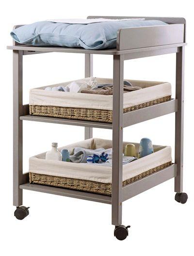 table langer b b sur roulettes blanc taupe vertbaudet enfant cadeaux b b pinterest. Black Bedroom Furniture Sets. Home Design Ideas