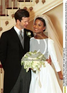 Leading by example: 'Princess Angela of Liechtenstein is the first and only black princess in reigning European monarchy. You probably never see coverage in mainstream media especially in England. In January of 2000, crown Prince Maximilian of Liechtenstein married his wife Angela Gisela Brown, making it the first in European Monarchy/Dynasty history.' The Interracial Royal Wedding. Prince Maximilian and Princess Angela of Liechtenstein: