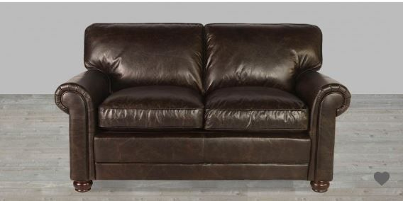 Closeout 100 Full Grain Leather Loveseat In Vintage Love Seat Leather Loveseat Vintage Loveseat