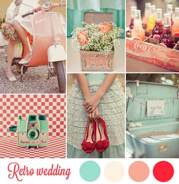retro  red and teal - takes you back to the 50's but's so perfect for today