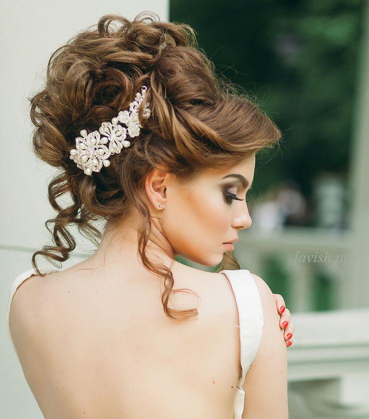 Beautiful bridal curl up-do