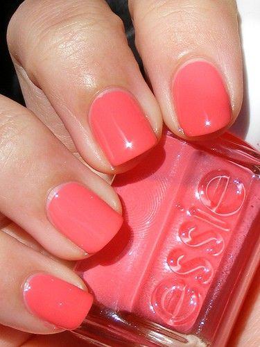 Current nail polish: Essie haute as hello... Very juicy summer shade!
