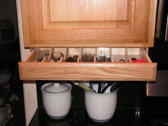 Best 25 under cabinet storage ideas on pinterest for Silverware storage no drawers