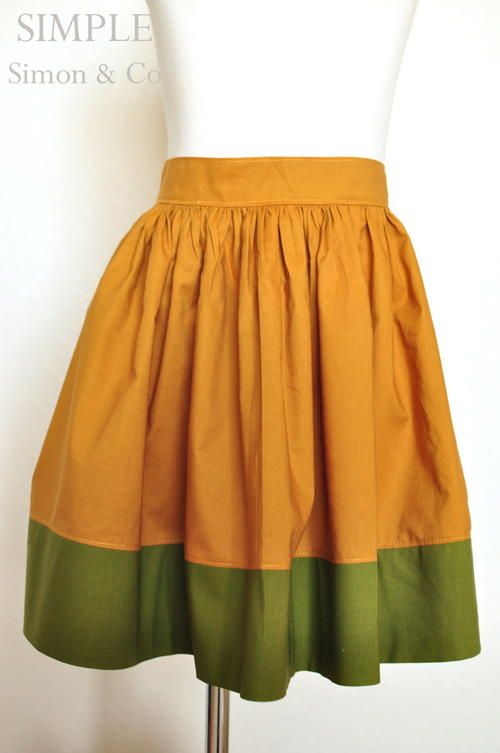 Vintage Colorblock Skirt Tutorial | This sweet and simple skirt is perfect for fall!