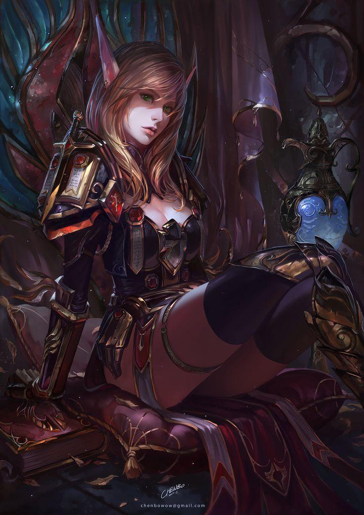 General 1500x2121  World of Warcraft Blood Elf portrait display Chenbo