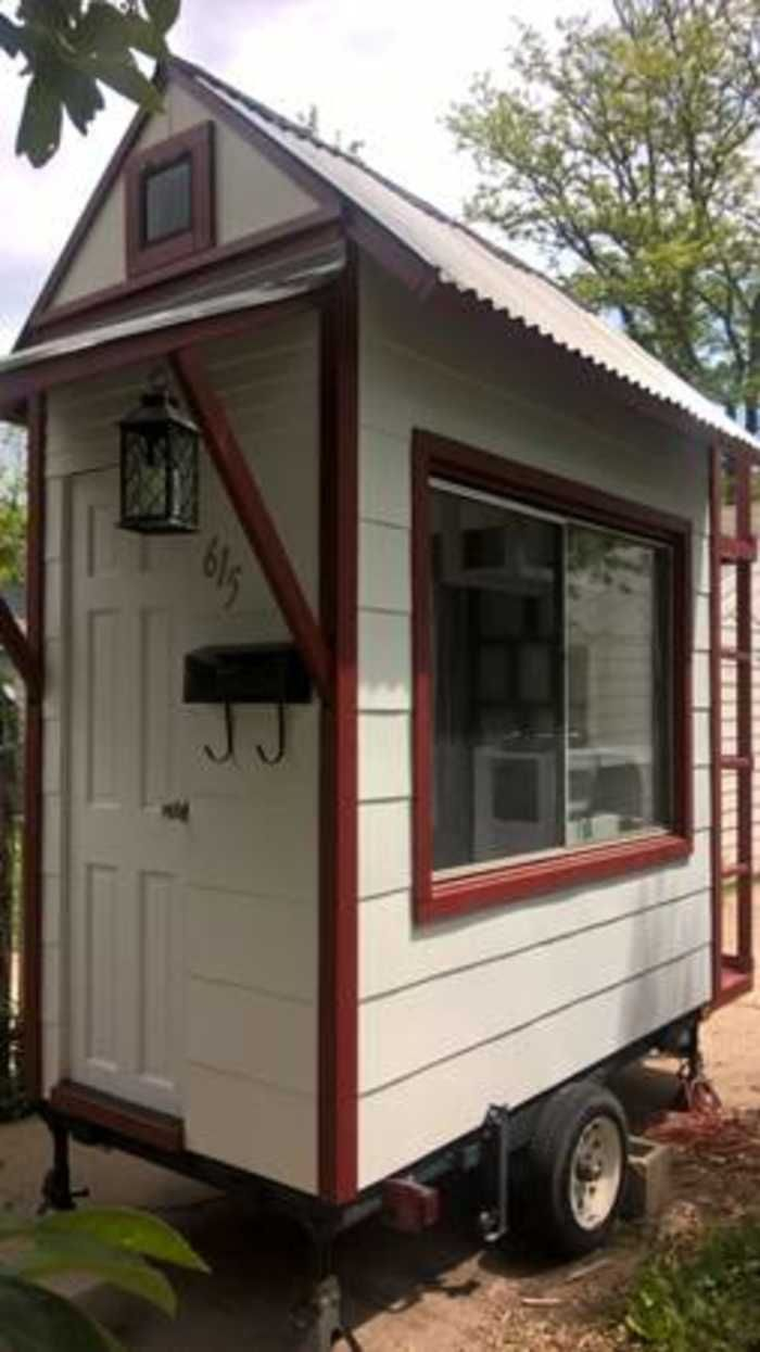 Micro Tiny House 4 X8 Tiny House For Sale In Fort Collins Colorado Tiny House Listings Tiny House Trailer Small Tiny House Tiny House Cabin