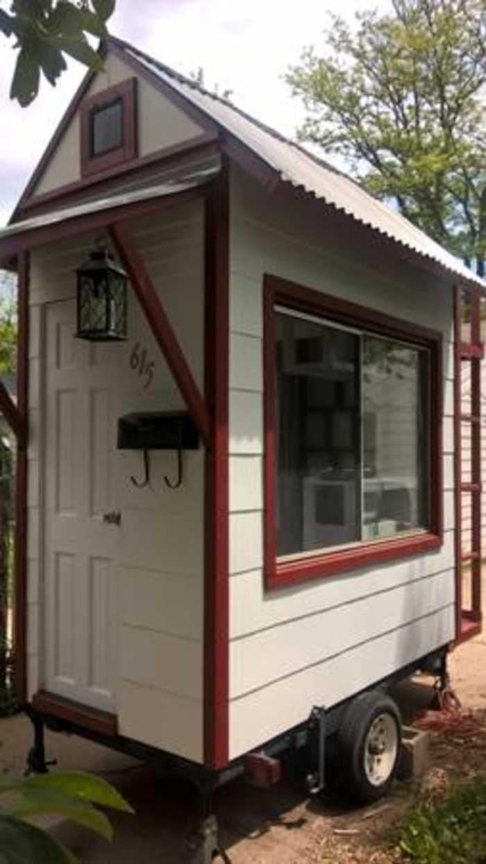 Micro Tiny House 4 X8 Tiny House Trailer Small Tiny House Tiny House Cabin