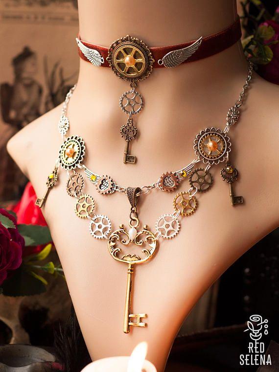 Steampunk Jewelry set 524566660315