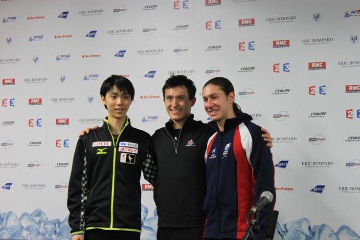 Yuzuru Hanyu, Patrick Chan, Jason Brown - Bompard 2013.  Yes!