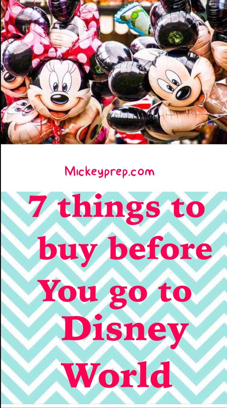 7 things to buy before you go to Disney world. Cheap Disney vacation. Budget vacation tips and tricks. Free things at Disney.