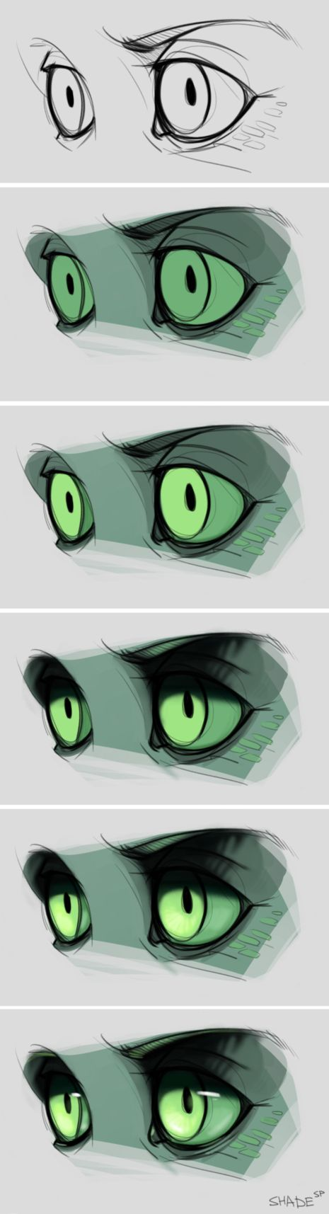 Eyes coloring by SHADE-ShyPervert
