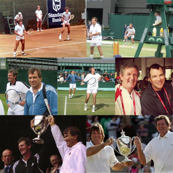 Happy 60th birthday to a tennis legend and most importantly our dear friend, Kevin Curren!! Kevin &  @johankriek won 4 consecutive @wimbledon Legends Doubles Titles: 2003, 2004, 2005 & 2006! Thank you for all the amazing memories Kevin! Have an awesome celebration! Cheers!! #KevinCurren #JohanKriek #SouthAfrica #ATP #Wimbledon #tennis #tennislegends #fbf