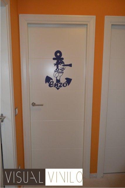Vinilo decorativo infantil para puertas