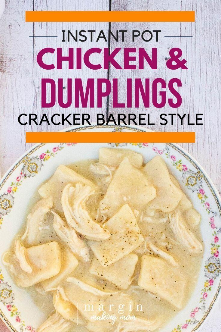 The Best Chicken And Dumplings In The Pressure Cooker Recipe Chicken Dumplings Instant Pot Dinner Recipes Cheap Instant Pot